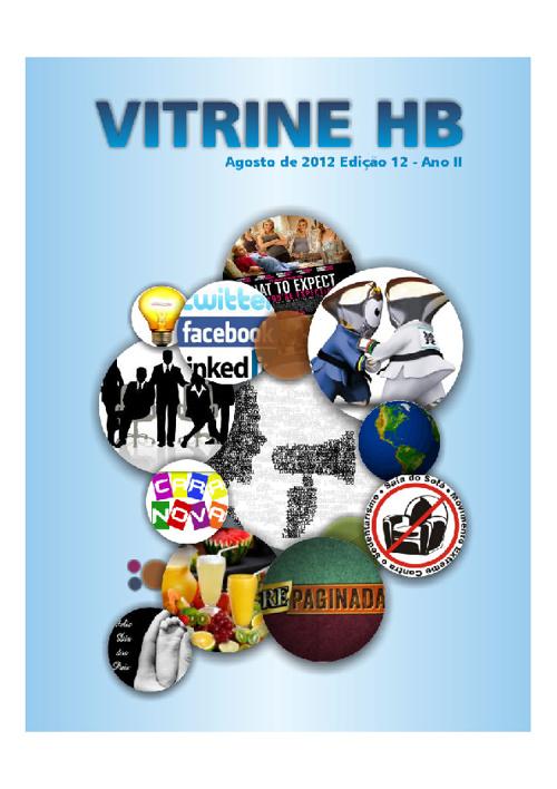 Revista Vitrine HB Edição de Agosto