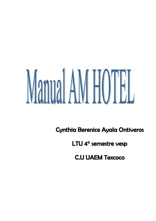 :: Manual AM HOTEL::