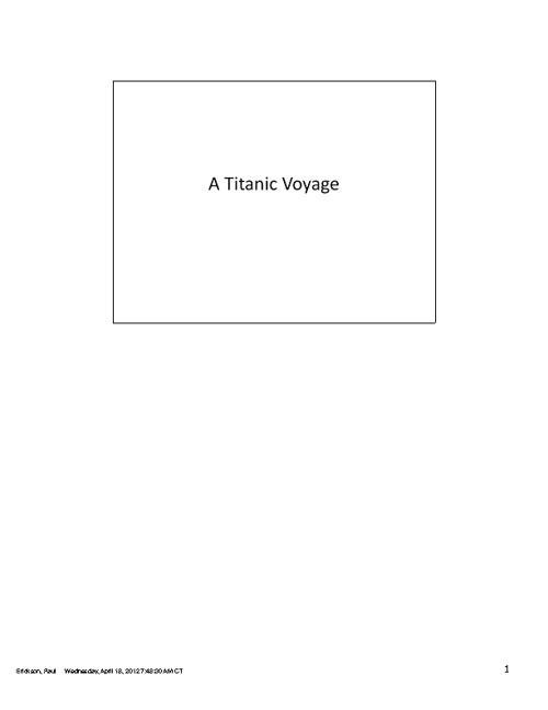 Titanic Voyage - in ba-da-bings
