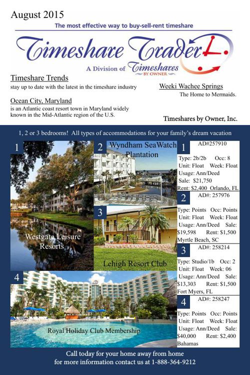 Timeshare August 2015