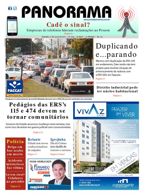 Panorama 27/07/2012 - Taquara/RS