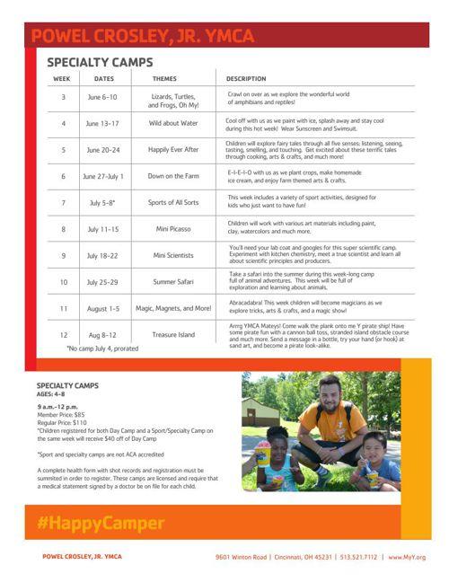 Powel Crosley, Jr. YMCA Winter 2016 Program Guide