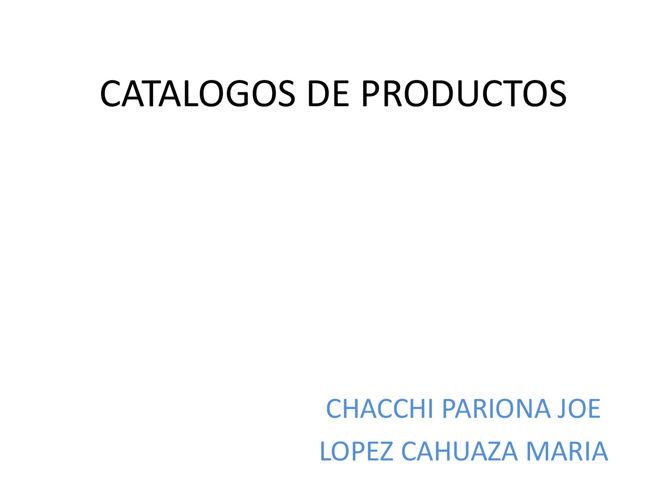 CATALOGOS DE PRODUCTOS