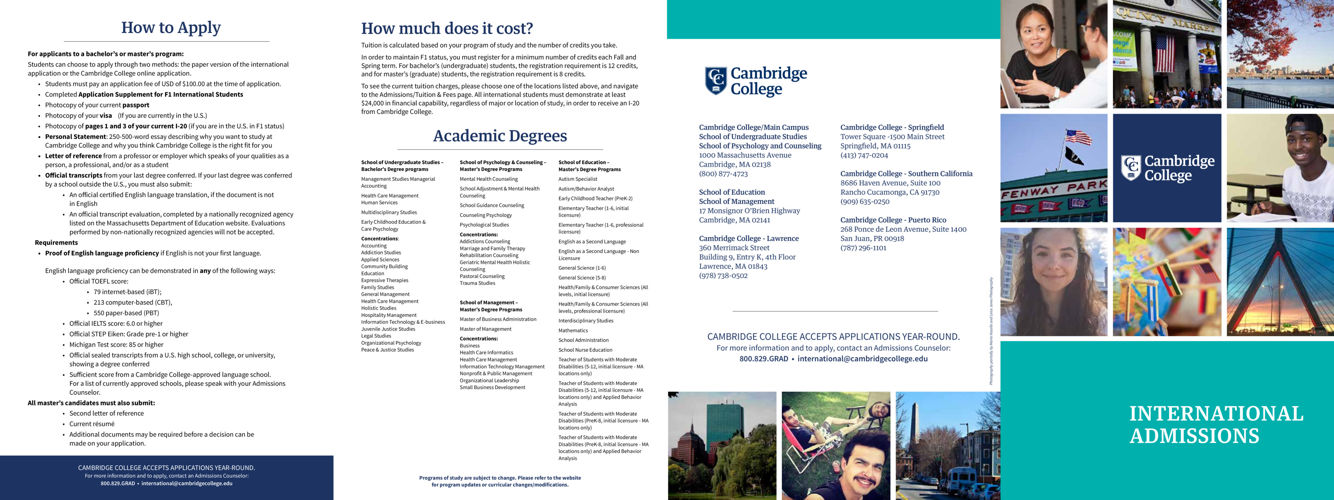 Cambridge College International Admissions