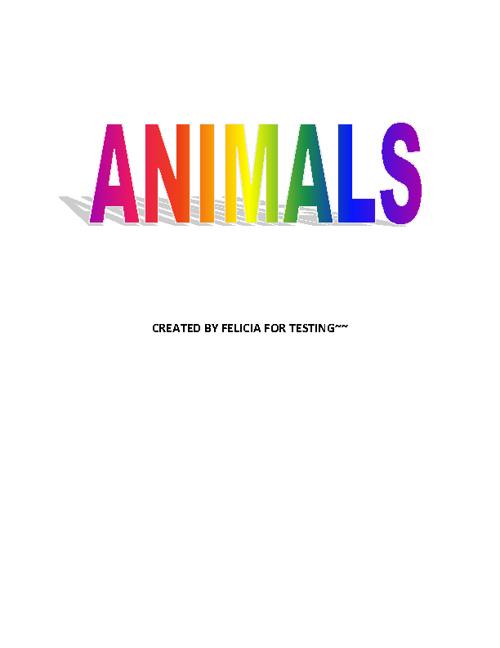 Animals~~