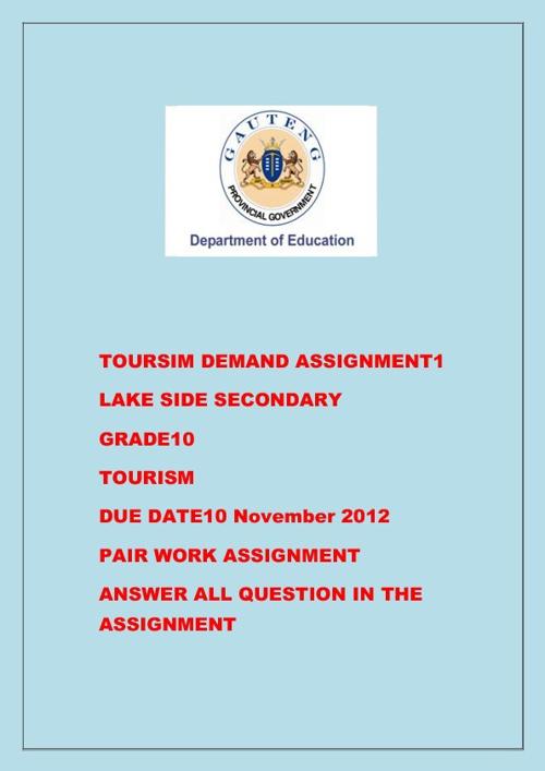 TOURISM DEMAND ASSIGNMENT 1