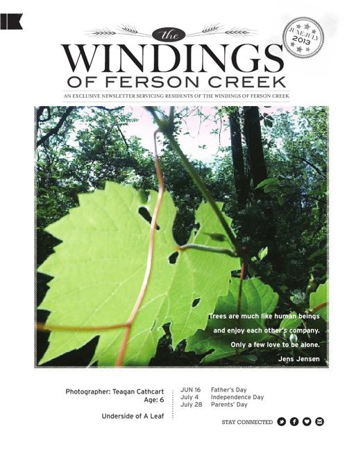 The Windings Newsletter June/July 2013