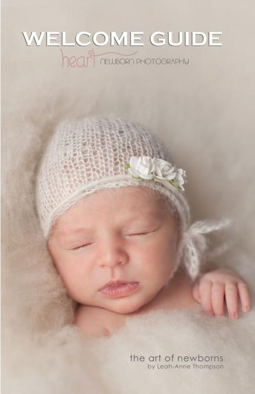 Welcome Guide Booklet - Heart Newborn Photography