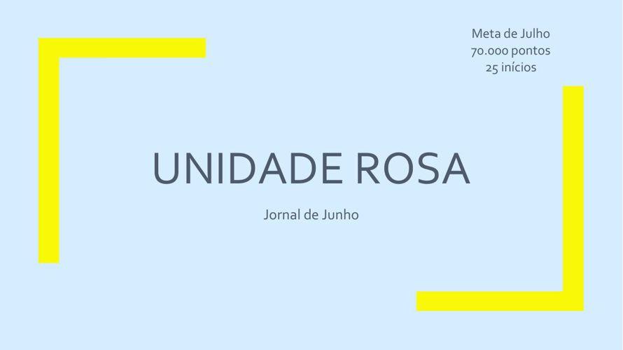 Jornal Unidade Rosa Julho