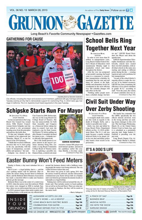 Grunion Gazette | March 28, 2013