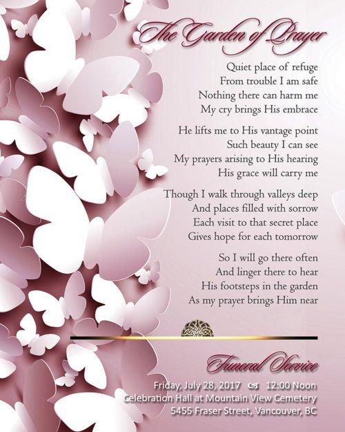 Memorial Card for Marissa Shen