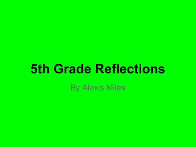 refletions