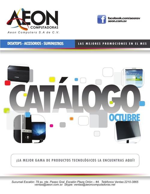 AEON Computadoras - Catálogo OCTUBRE 2013