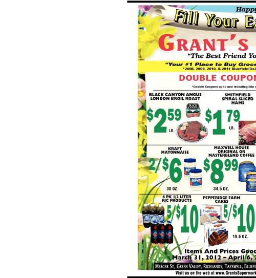 Grant's Specials 3/31-4/6