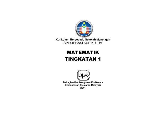 HSP MATEMATIK TING. 1