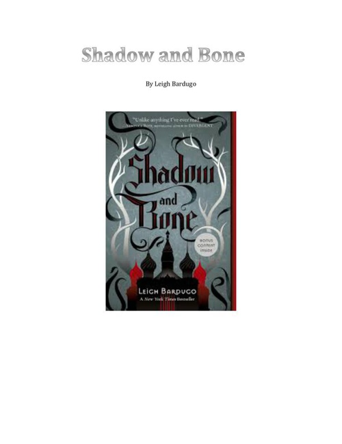 shadow title page