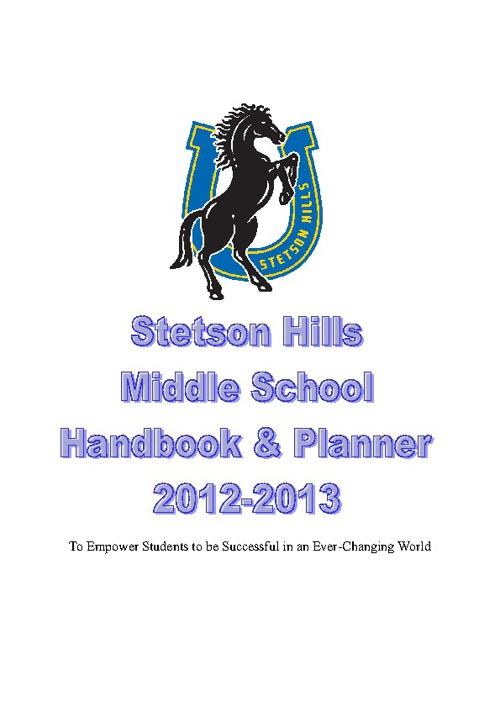 Middle School Handbook 2012-2013