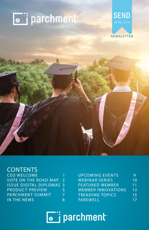 April 2016 Newsletter: Higher Education Senders