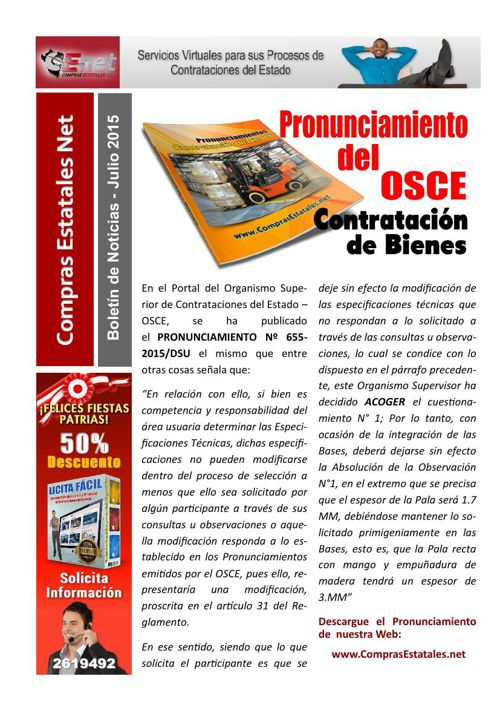 Boletin de Noticias CENET - Julio 2015