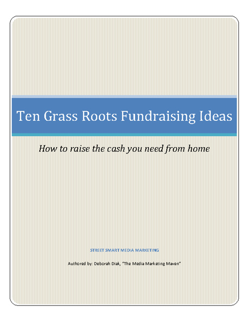 10 Grass Roots Fundraising Ideas