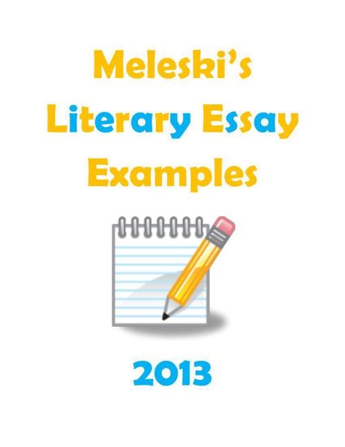 4th Grade Literary Essays 2013
