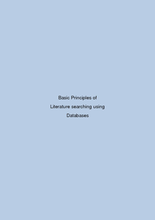 Basics for literature searching