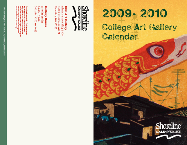 SCC Art Gallery Flyer 2009-2010