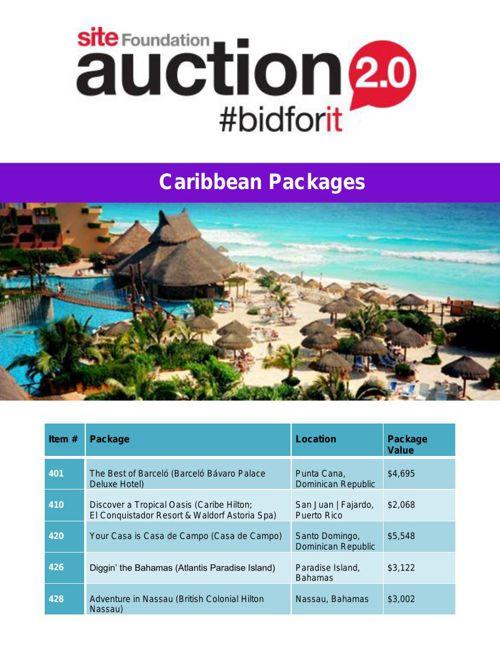 SITE Auction- Caribbean