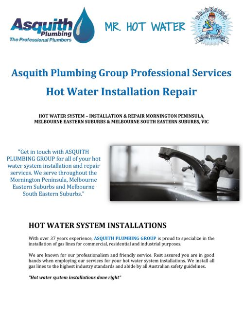 Asquith Plumbing Group: Hot Water Installation Repair