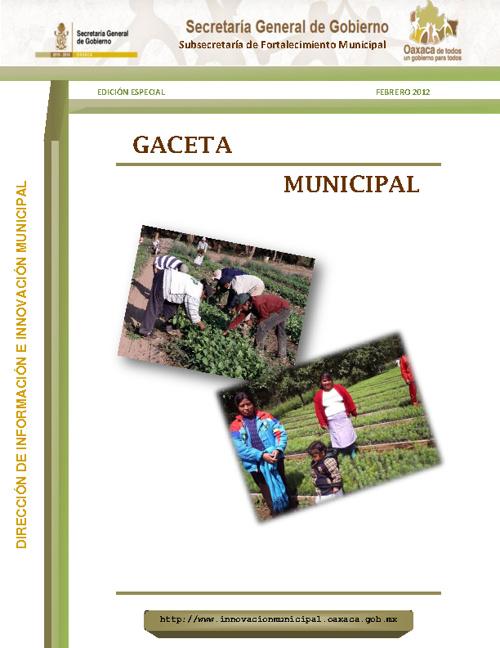 Innovación Municipal | Gaceta | Edición especial