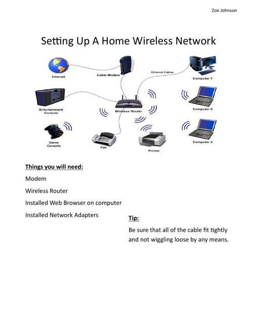 Setting Up a Wireless Network
