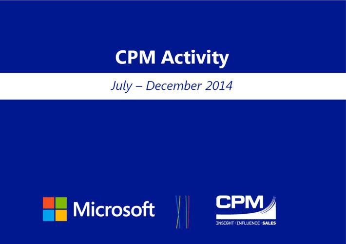CPM & Microsoft