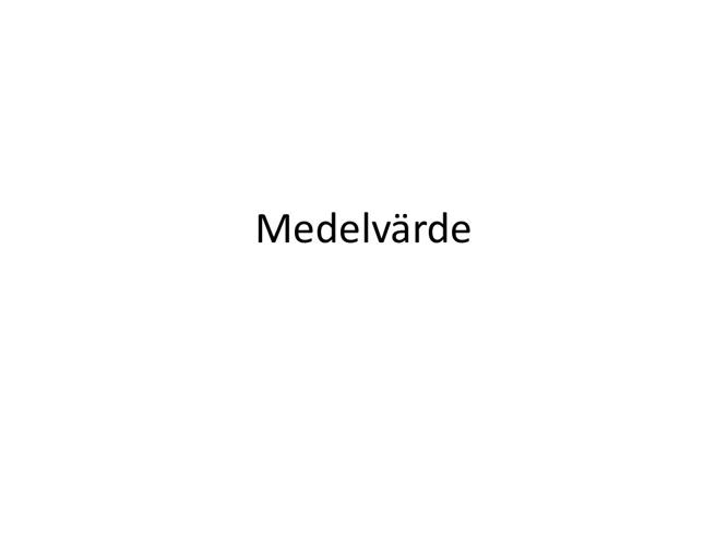 Medelvärde - David Sjövall