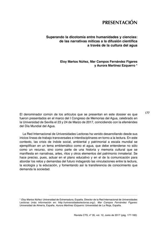 VOL12/N35 - Presentación