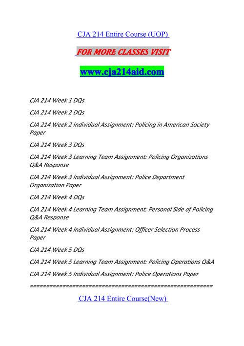 CJA 214 AID Experience Tradition/cja214aid.com