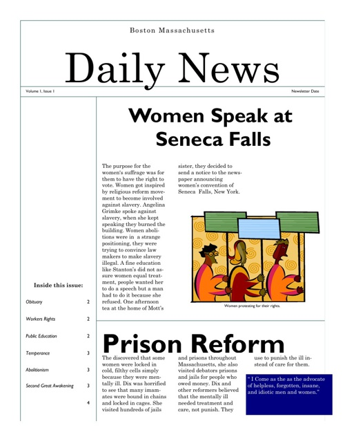Tamia's newspaper