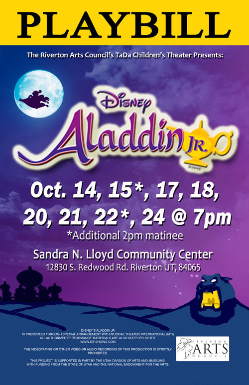 Riverton Arts Council: Disney Aladdin Jr.