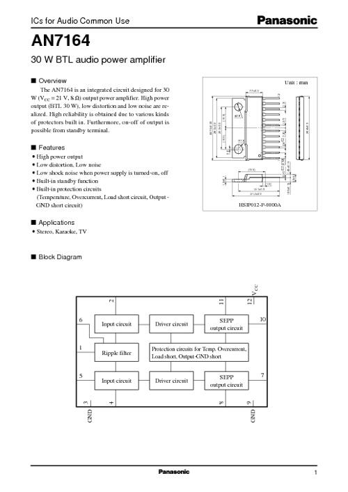 Data Sheet IC AN 7164