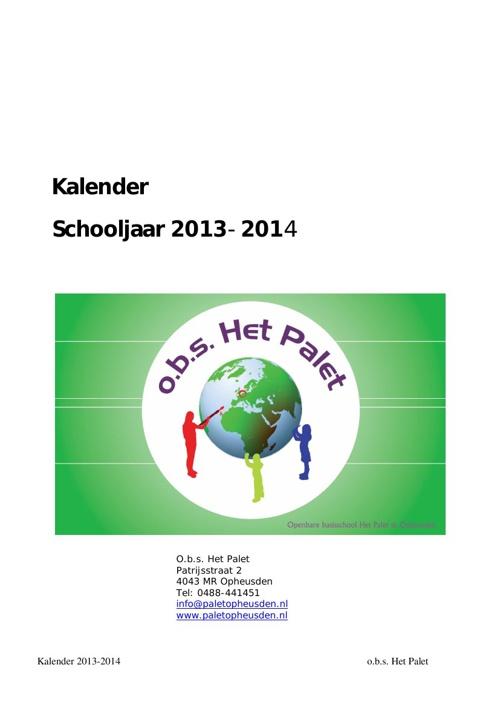 Copy of Copy of schoolkalender 2013-2014