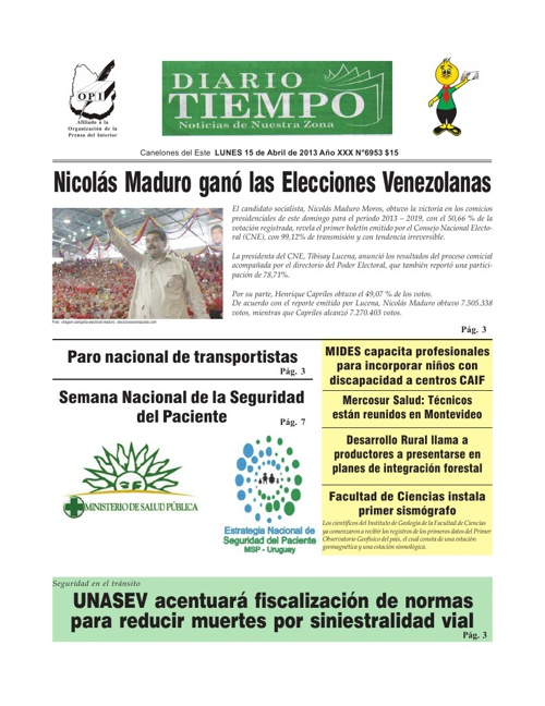 Diario Tiempo 15-04-2013