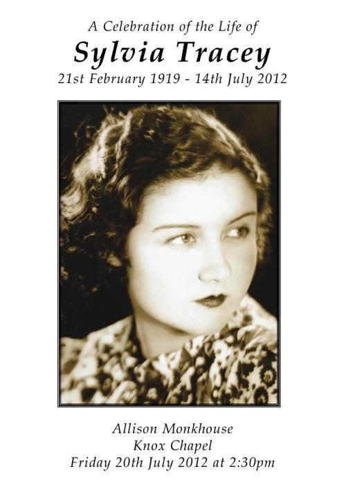 Sylvia Tracey