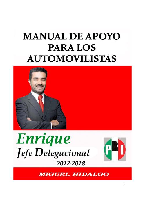 Manual de Apoyo para los Automovilistas - Enrique Davis Mazlum
