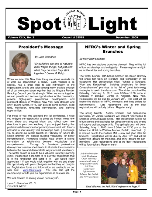NFRC Spotlight_Winter 2009