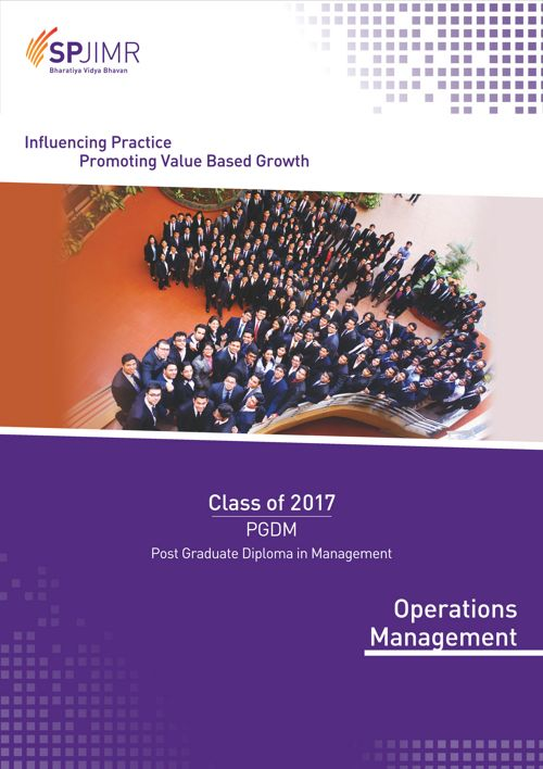 SPJIMR PGDM Operations Batch Profile 2015-17