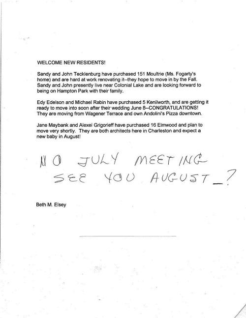 HPT Neighborhood June 1996