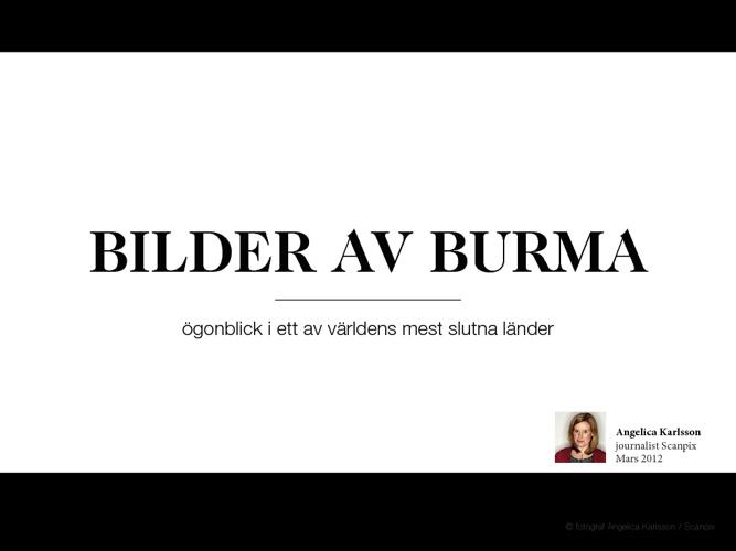 Bilder av Burma