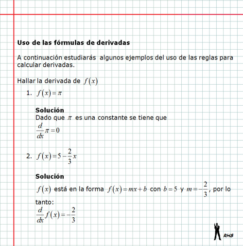Uso de las reglas de derivacion