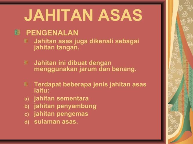 JAHITAN ASAS