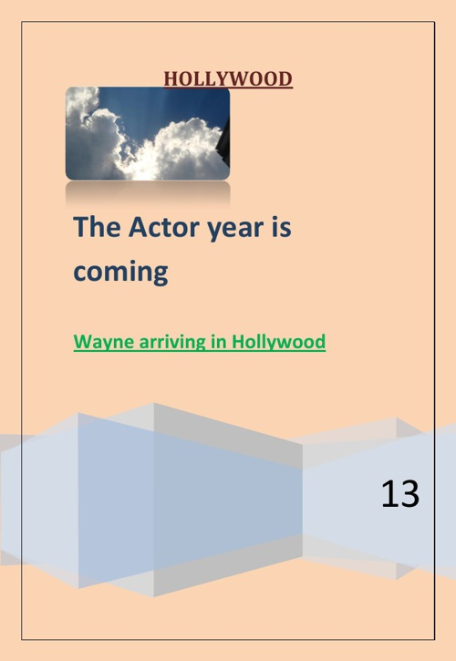 The actor is coming