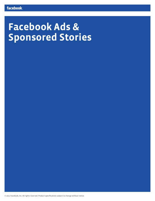 Facebook Ads and Sponsored Stories
